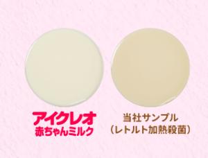 液体ミルクの白さを比較