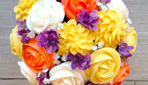 まるで花束!カップケーキでつくるブーケがオシャレな「BAKED bouquet」